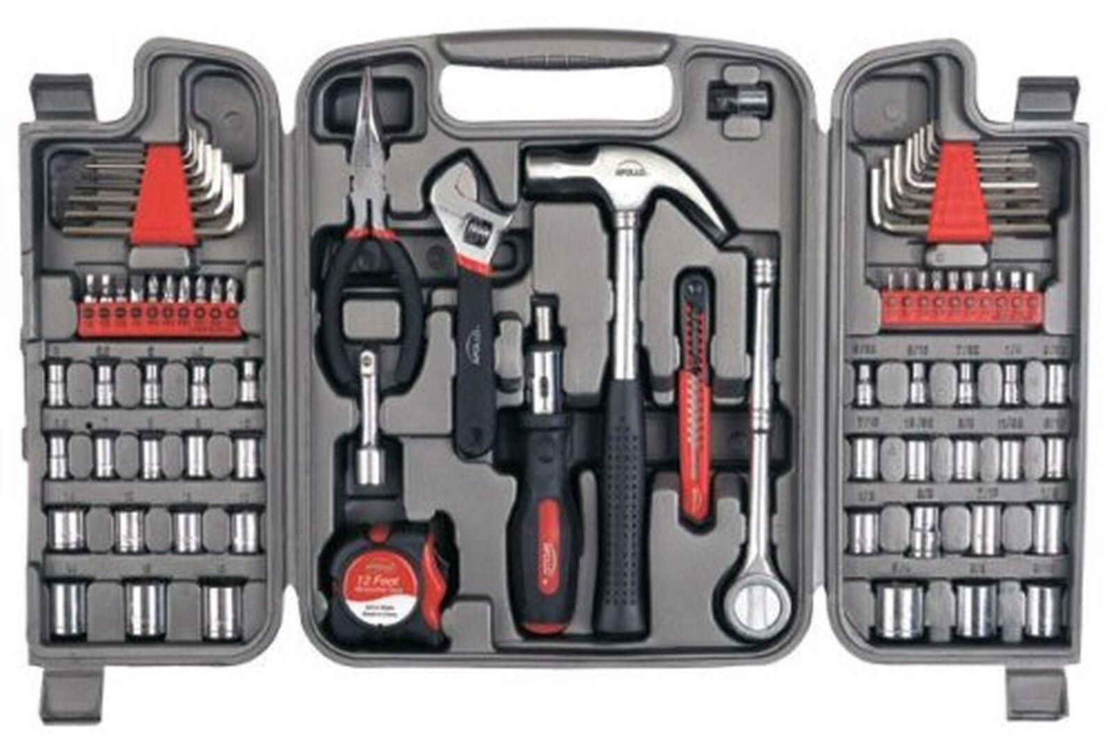 Apollo Precision Tools 79 Piece Tool Kit Set Car Gift Emergency Bundle Lot NEW