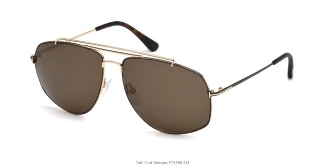 92bbe47981a1 Sunglasses Tom Ford Georges TF 496 FT 28j Shiny Rose Gold   Roviex ...