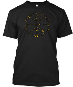 Black-And-Gold-Basketball-Hanes-Tagless-Tee-T-Shirt