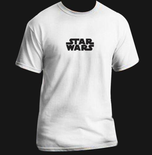 Funny T-Shirt Adult Black White Custom Star Wars Logo Full