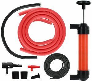 Multi-Purpose Siphon Transfer Pump Kit W/Tube 4 Fluid Fuel Extractor Suction Oil