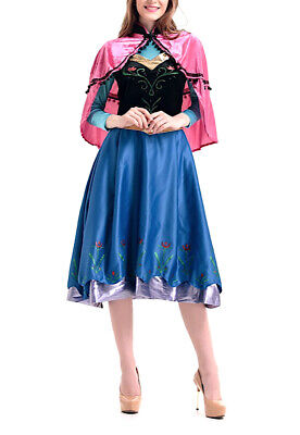 Unito Frozen Vestito Carnevale Anna Donna Dress Up Anna Woman Costume 6699020b