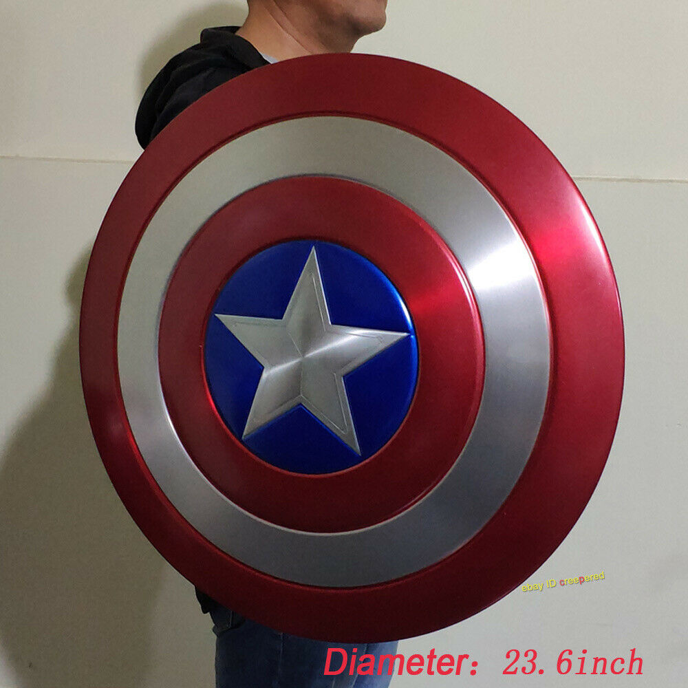 Captain America 1 1 Scale Shield Model Aluminium Alloy Painted Cosplay For Prop