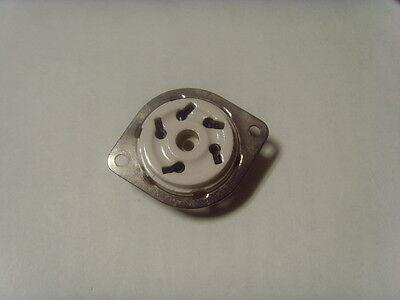 TV-7 TV-7//U TV-7A//U TV-7B//U TV-7D//U TV-3 TV10 Vintage Ceramic 4 Pin Socket