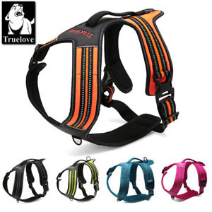 Truelove-Pet-Dog-Puppy-Harness-Adjustable-3M-Reflective-Padded-5-Sizes-5-Colours