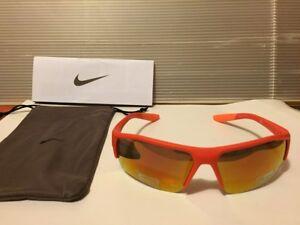 3fa4d72b15a81 Details about Nike-Golf-Skylon-Ace-Sunglasses-EV0910-800 Matte Orange,With  Orange Flash Lens