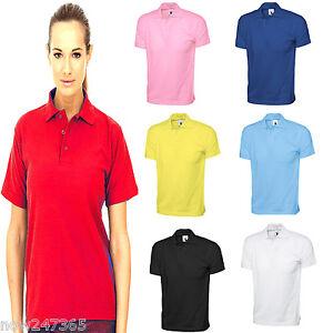 6c3e5c62696 Ladies Polo T Shirt Jersey Cotton Unisex Loose Fit Plus Size 12 to ...