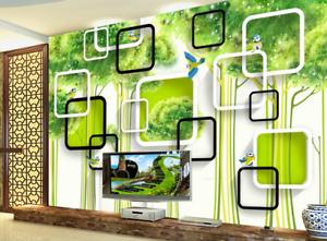 3D Tree Birds Frames 8 Wall Paper Murals Wall Print Wall Wallpaper Mural AU Kyra
