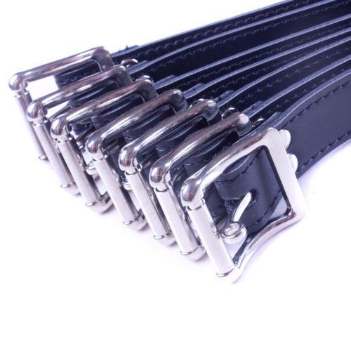 7Pc Leather Full Body Bondage Belt Restraint Aid Bed Body Leg Ststraint Kits Toy