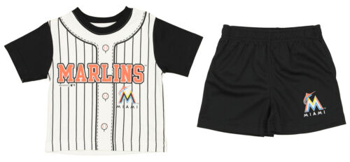 Outerstuff MLB Baseball Infant Toddler Miami Marlins Homerun Uniform Set