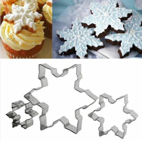 Snowflakes 3 pc Metal Cookie Cutter Set