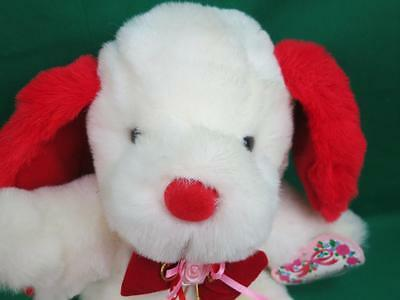 New Vintage Fairview Kmart Valentine S Day Red White Bowtie Puppy Dog Plush Gift Ebay