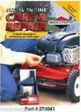 Briggs 274041 SMALL ENGINE CARE & REPAIR MAINTENANCE BK