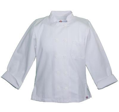 NWT Dickies 70309 Women's WHITE Long Sleeve Economy Chef Coat Jacket XS-2XL