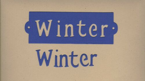 """Dayco//AccuCut Your choice of Letter Styles on /""""Winter-blue/"""" Die Cuts"""