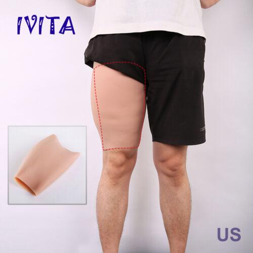 Chic 3cm Thickness Sturdy Thighs Enhancer Shaper Wear Full Silicone Legs Sheath