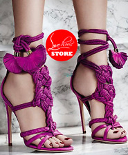 Size 35-46 SANDALI FUCSIA ALTI TACCO12 SEXY ESTATE TACCO12 SANDALS CROSSDRESS