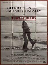 Affiche TURTLE DIARY John Irvin GLENDA JACKSON Ben Kingsley 120x160cm