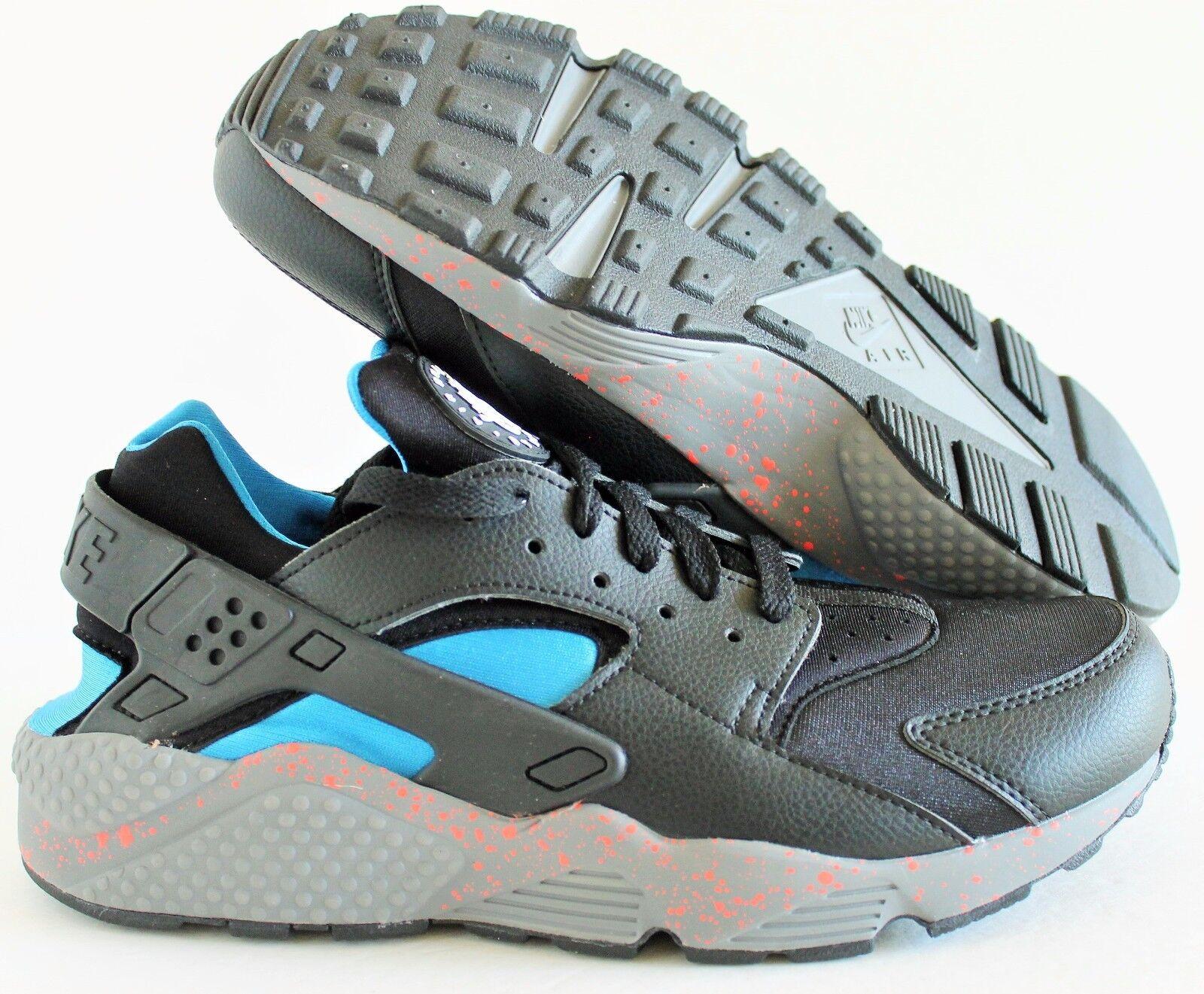 Casual wild Nike Men's Huarache Premium ID Black-Blue-Gray  Price reduction