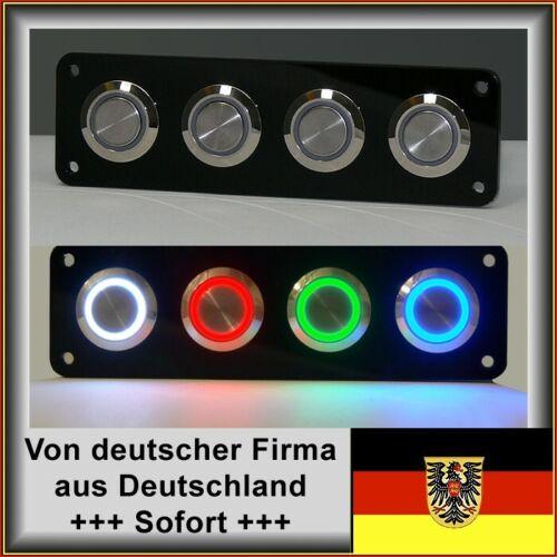 25mm Drucktaster LED weiß als Schalter Edelstahl Wasserdicht IP67