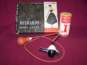 MILWARDS-SKIRT-LEVEL-D-606-w-Box-amp-Unopened-Collins-Special-Marking-Powder-D606