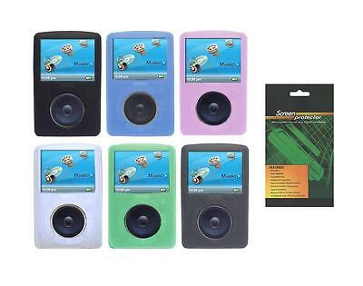 SDMX20R Soft Skin Cover Case and Screen Protector for Sandisk Sansa Fuze+