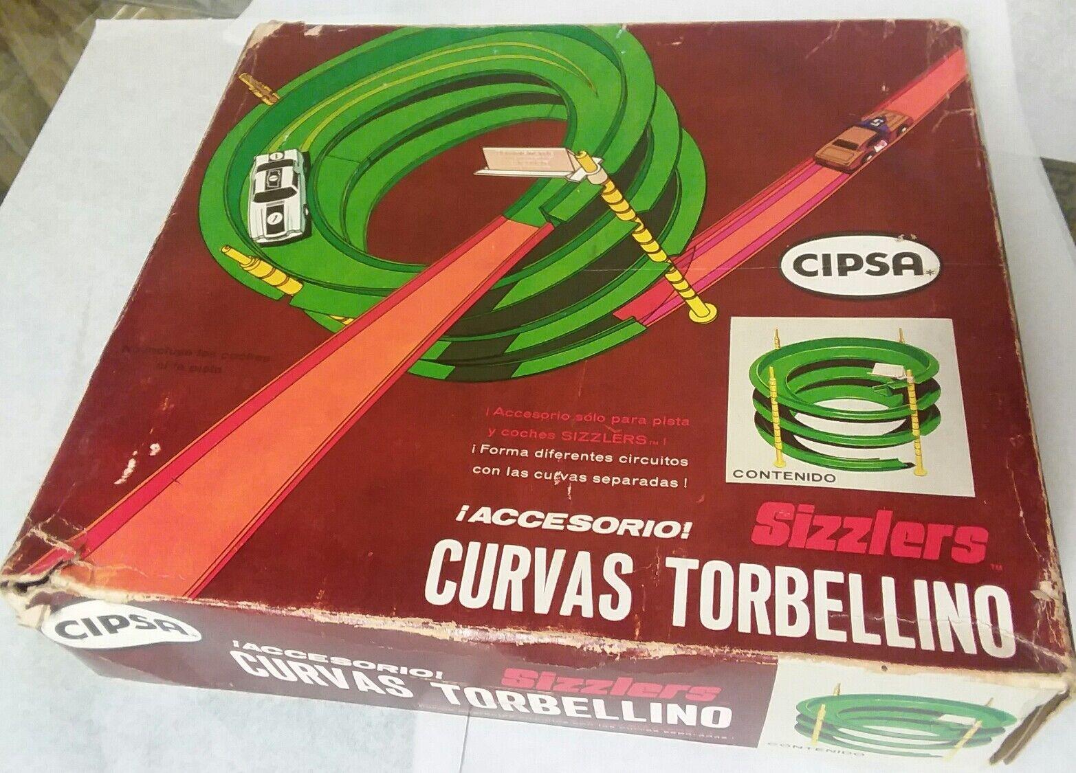 Cipsa líneas rojas era México  curvas Caracol  Sizzlers Accesorios En Caja Sellada