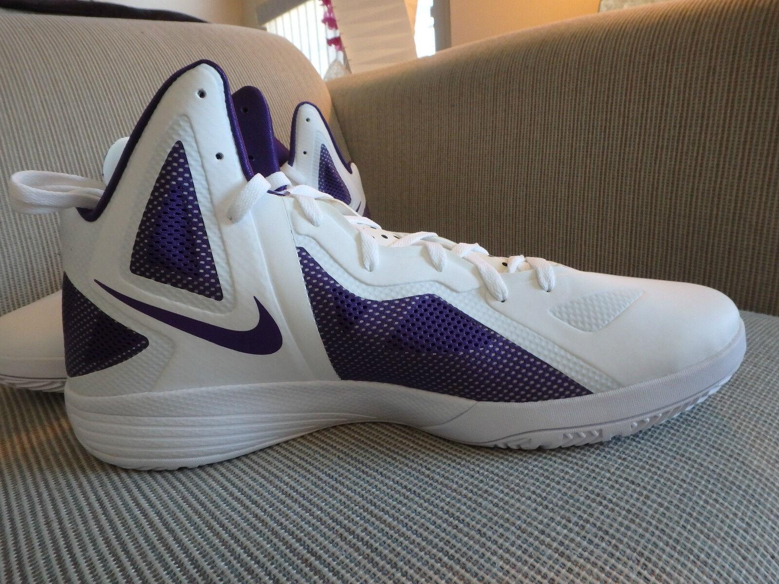 Nike Zoom Hyperfuse 2018 de baloncesto de los hombres zapatos 454146 blanco / violeta TB 454146 zapatos 001 SZ 18 el último descuento zapatos para hombres y mujeres 101905