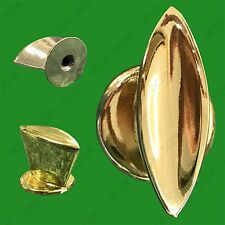 4x Mini Polished Brass Pull Knob 32mm Kitchen Cabinet Door Drawer Wardrobe Desk