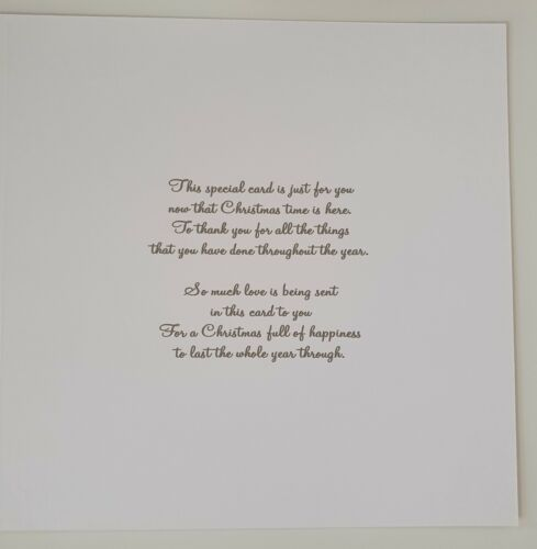 Personalised Christmas Cards Tree Design Mum Dad Mother Father Auntie Uncle