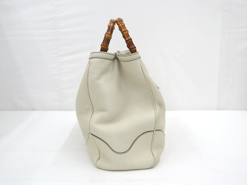 Used Gucci Diana Bamboo Tote Bag Leather White W3… - image 3