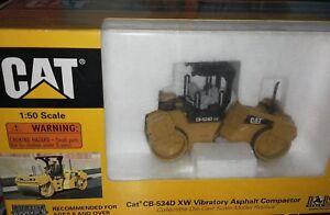 Norscot Caterpillar Cat Cb-534d Xw Compacteur D'asphalte Vibrant 1:50 Neuf Dans La Boîte