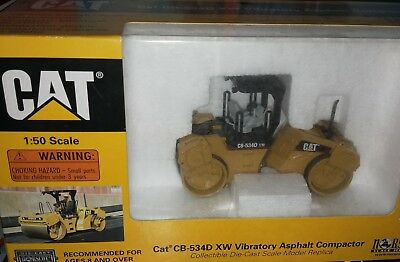 Disinteressato Norscot Caterpillar Cat Cb-534d Xw Vibratory Asphalt Compactor 1:50 New In Box Rimozione Dell'Ostruzione