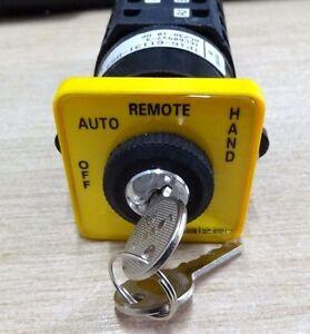 4 pole 3 way heavy duty 16A key switch off-on-on-on Salzer TP16-61131-B53