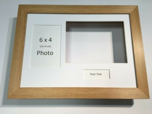 Choose from 6 mount colours 3D Deep Display Box//Craft//Casting Frame Oak