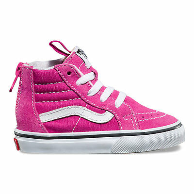Vans SK8 Hi Zip VERY BERRYTrue White VN0A32R3OVY Toddlers Shoes New In Box   eBay