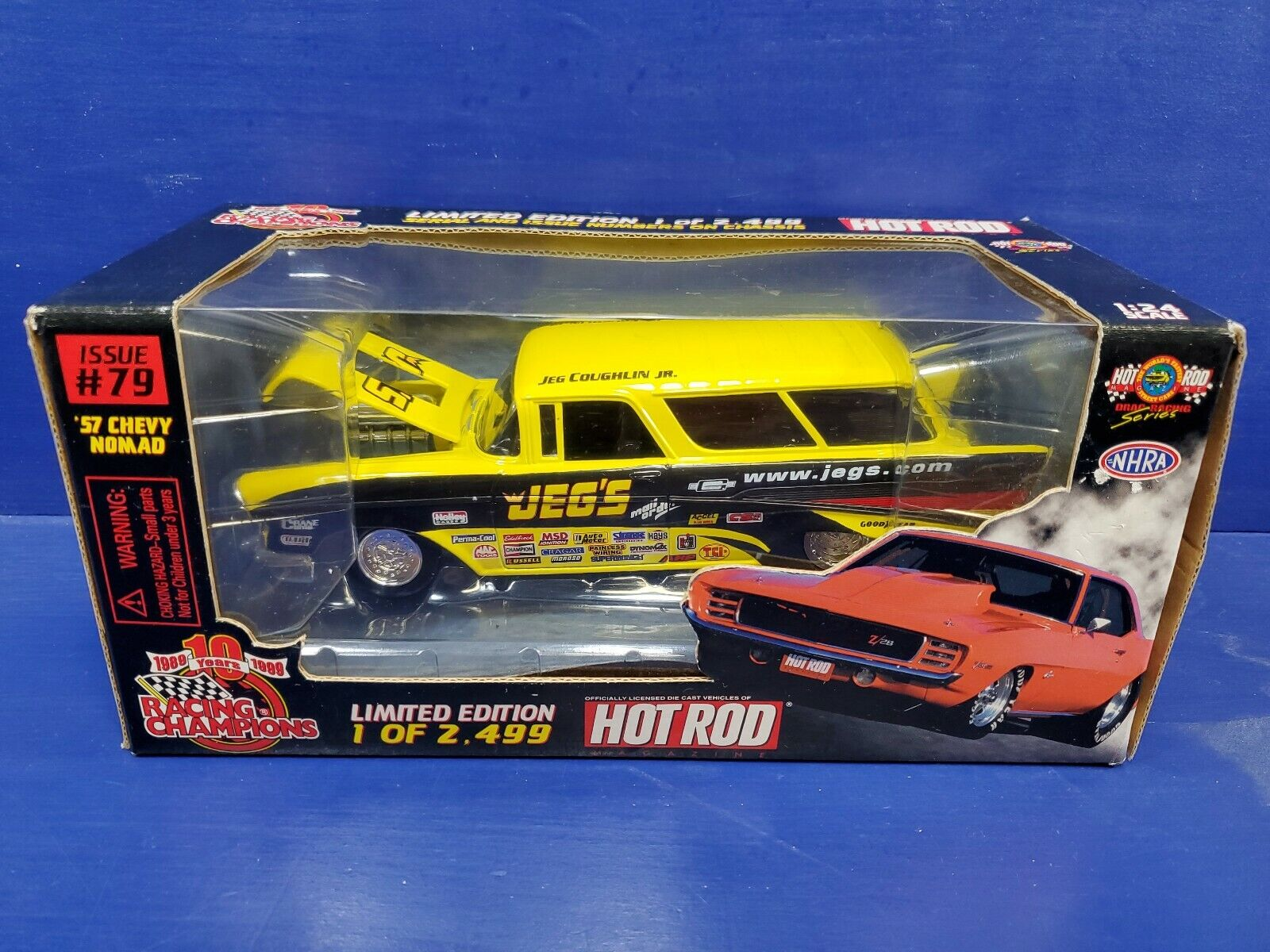 prendi l'ultimo 1 1 1 24 Die Cast Racing Champions Caliente Rod Magazine Issue  79 1957 Chevy Nomad Jeg's  Sconto del 70%