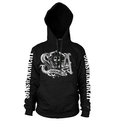 Officially Licensed SOA Charming Reaper Hoodie S-XXL Sizes