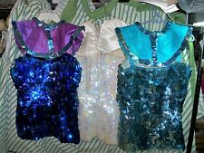 Vintage 3 Ladies CIRCUS Tops Costumes Dancer Performer Sequins 1970's