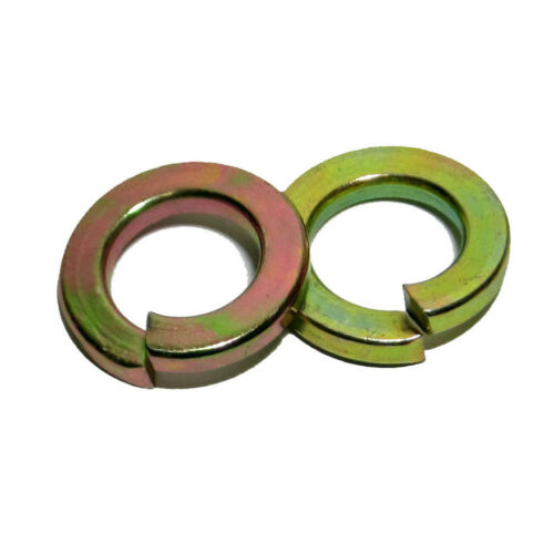 "3//8/"" Alloy Steel Medium Split Lock Washer Grade 8 Yellow Zinc 7,000"