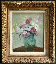 Marthe orant (1874-1957) francese IMPRESSIONISTA OLIO FIORI-AMICO DI Vuillard