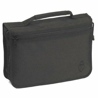 """Extra Wide Bible Case Book cover Canvas Large Size Black. 10"""" x 7"""" x 2.5"""" Ideal"""
