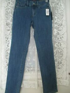 Usa taille 2 taille Jeans Straight basse taille 6uk Slim 28 Nydj xzqU7FXB