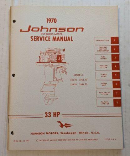 ispacegoa.com 33RL70 33R70 1970 JOHNSON OUTBOARD 33 HP SERVICE ...