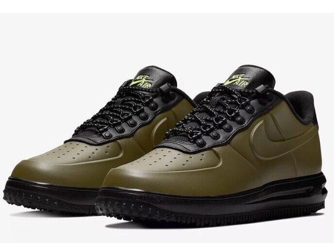 NWT Mens Nike Lunar Force 1 LF1 Duckboot Low shoes - Olive  - AA1125-301 - SZ-11