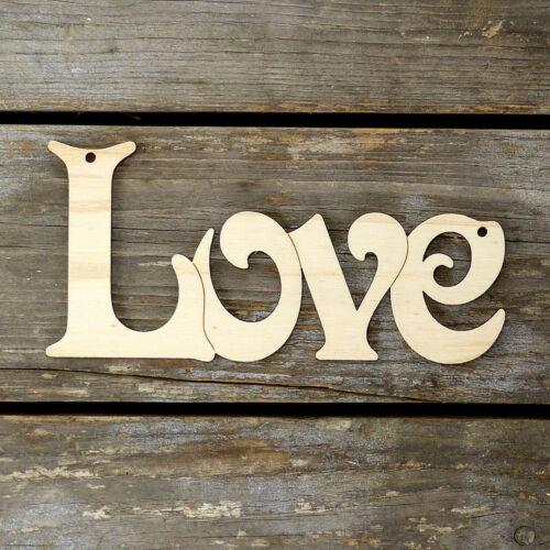 10x De Madera Amor en Fuente Victoria cadena de madera contrachapada 3mm formas artesanales palabra