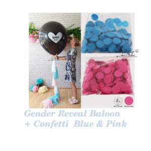 s l300 baby is a gender reveal balloon hot circle confetti pink blue diy