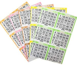 BINGO Paper Cards 1 on/'s singles 500 sheets LIGHTNING QUICK FREE SHIPPING!!