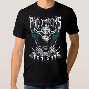 Phil-Collins-In-The-Air-Tonight-T-Shirt-Men-039-s-Women-039-s-Punk-Rock-Metal-Tee