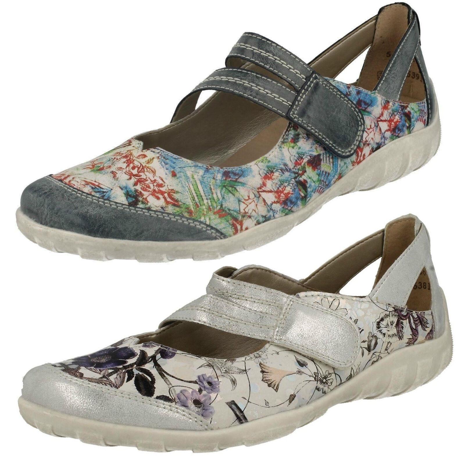 Casual salvaje Descuento por tiempo limitado Mujer Remonte r3427 Multi O Blanco Cuero Casual Mary Jane Zapatos de CORREA